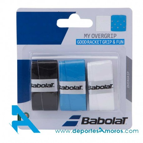 Overgrip Babolat MY GRIP White/Blue/Red